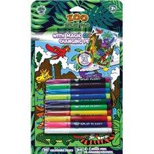 Magiška spalvinimo knygelė Splat Planet ZOO