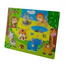 Dėlionė Euro Vaikas su smeigtukais Safari