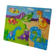 Dėlionė Euro Vaikas su smeigtukais Dinozaurai