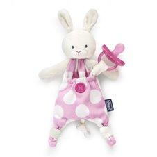 Čiulptuko laikiklis CHICCO su migduku Bunny 0mėn+ 072415 Pink