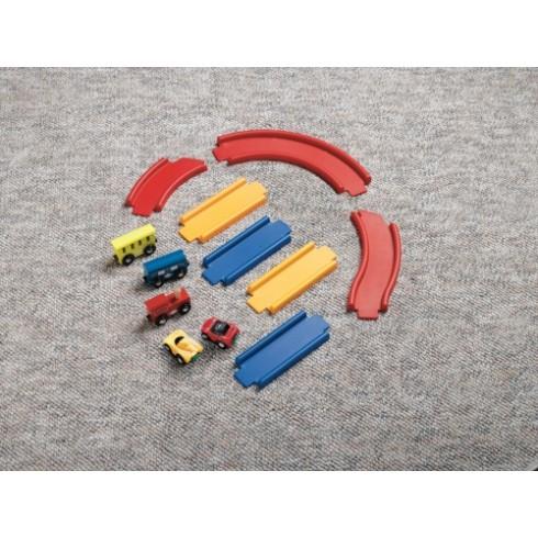 """Traukinio bėgių ir kelio stalas """"Train & Track Table"""" Step2"""