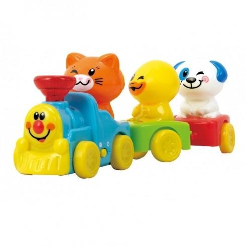 Gyvūnėlių traukinukas PlayGo 2815