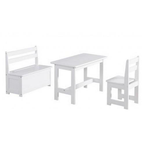 Staliukas su kėdute ir suoliuku Pinio Baby Set