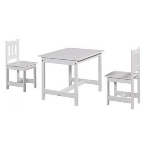Staliukas ir kėdutė Pinio Junior set baltas