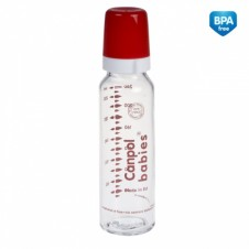 CANPOL buteliukas stiklinis 12m+ 240ml 42/101