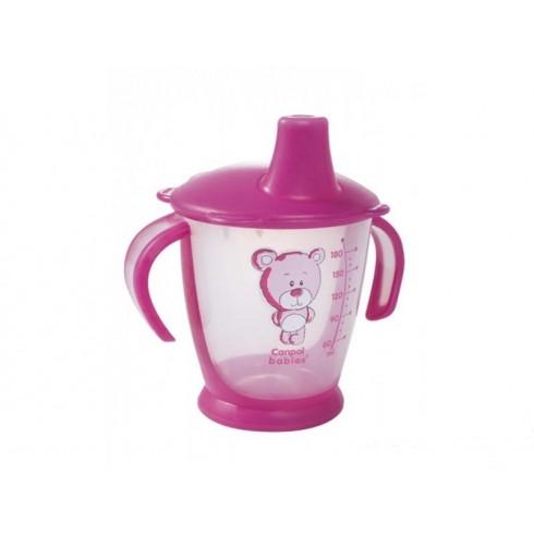CANPOL puodelis neišsipilantis Teddy Friend 9m+ 180ml 31/500