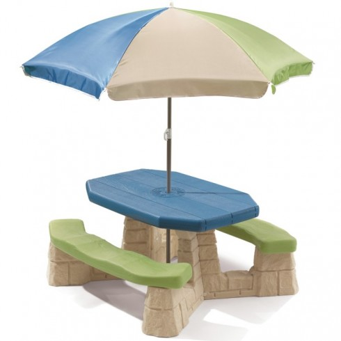 Iškylų stalelis su skėčiu Step2 843800