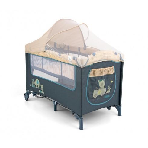 Maniežinė lovytė M&M Mirage Deluxe Blue Toys