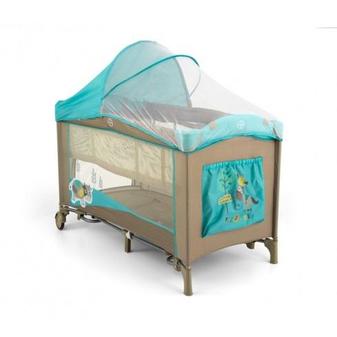 Maniežinė lovytė M&M Mirage Deluxe Khaki Cow