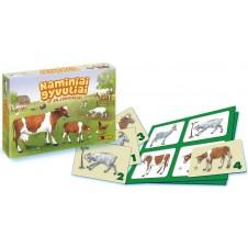 """Stalo žaidimas Logis """"Naminiai gyvuliai ir jų jaunikliai"""" 10023"""